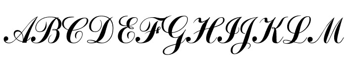 Bulgarian Kursiv Font UPPERCASE