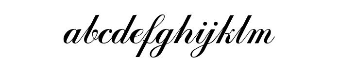 Bulgarian Kursiv Font LOWERCASE