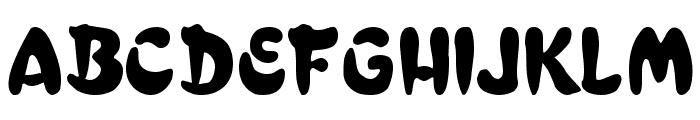 Bulge Normal Font UPPERCASE