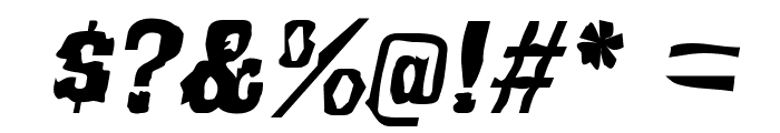 Bullfrog Font OTHER CHARS