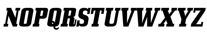 Bullpen Italic Font UPPERCASE