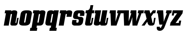 Bullpen Italic Font LOWERCASE