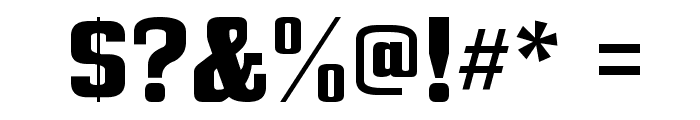 Bullpen Font OTHER CHARS