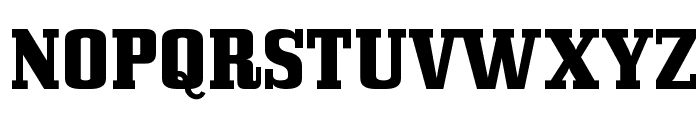 Bullpen Font UPPERCASE
