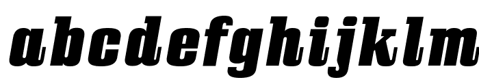 BullpenHv-Italic Font LOWERCASE