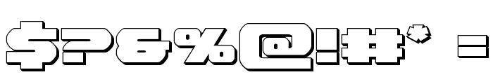 Bummer 3D Font OTHER CHARS