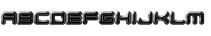 Bump Pad Font LOWERCASE