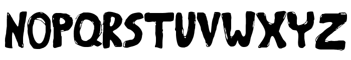 Bumpy Road Regular Font UPPERCASE