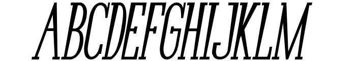 Bunga Cengkih Bold Italic Font LOWERCASE