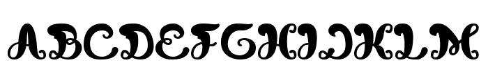 Bunga Melati Putih Bold Font UPPERCASE