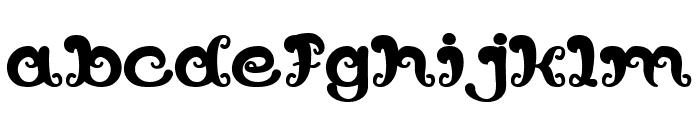 Bunga Melati Putih Bold Font LOWERCASE