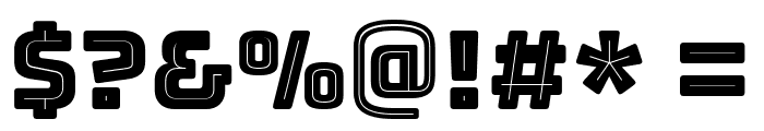 Bungee Inline Font OTHER CHARS