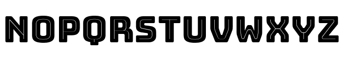 Bungee Inline Font LOWERCASE