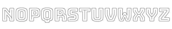 Bungee Outline Regular Font UPPERCASE