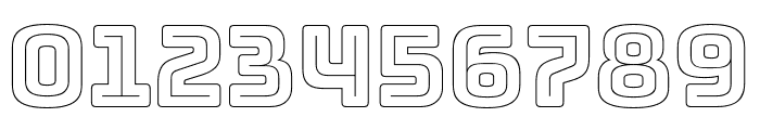 Bungee Outline Font OTHER CHARS