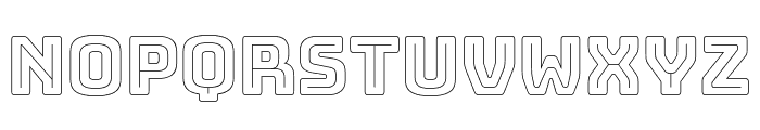 Bungee Outline Font UPPERCASE