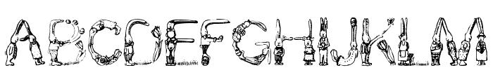 Bunny Rabbits Font UPPERCASE