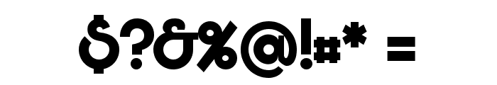 Bunya PERSONAL Bold Font OTHER CHARS