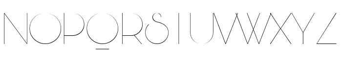 Bunya PERSONAL Thin Font UPPERCASE
