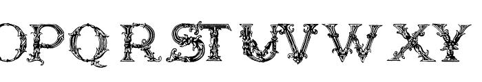 Burgoyne_Initials Font UPPERCASE