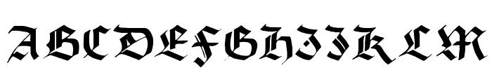 Burgundian Font UPPERCASE