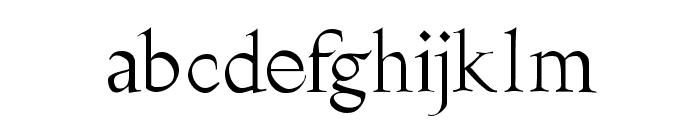 Burklein Font LOWERCASE