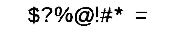 BurnIt Font OTHER CHARS
