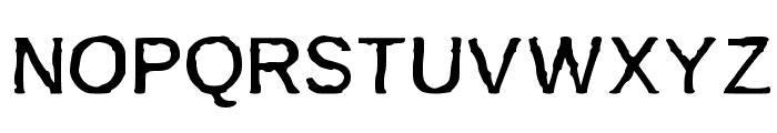 BurnIt Font UPPERCASE
