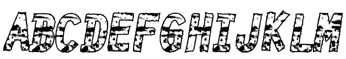 BurnTime Font UPPERCASE