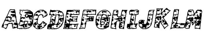 BurnTime Font LOWERCASE