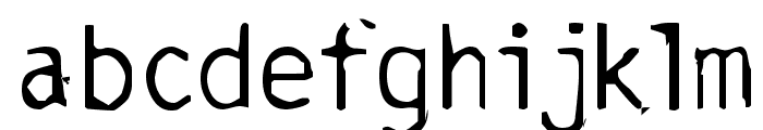 Burned-Gothic Font LOWERCASE