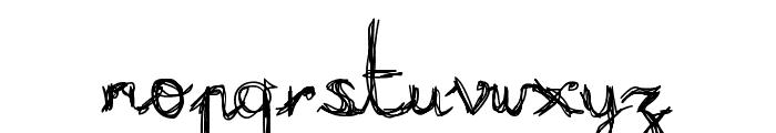 Burning Normal Font LOWERCASE
