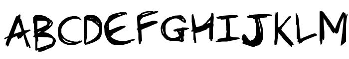 Burnt Scratches Font UPPERCASE