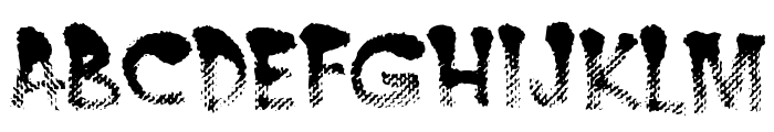 BurntMF Font UPPERCASE