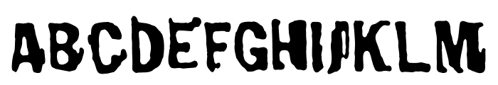 Burnthouse Font UPPERCASE