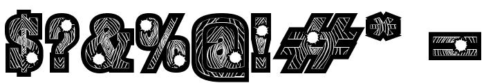 BurrisBlackShootout Font OTHER CHARS