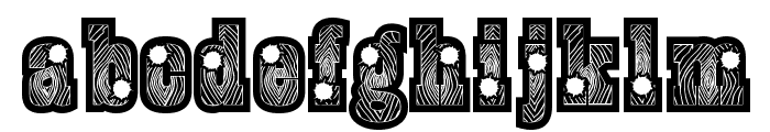 BurrisBlackShootout Font LOWERCASE