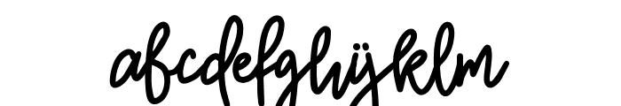 Burston Font LOWERCASE