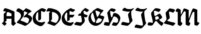 Burte-Fraktur Font UPPERCASE