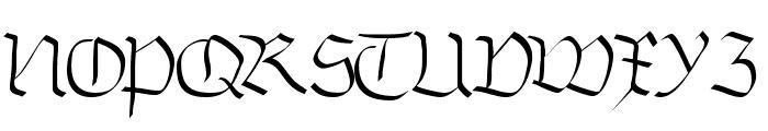 Burtine Font UPPERCASE