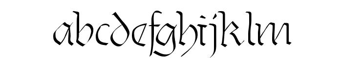 Burtine Font LOWERCASE