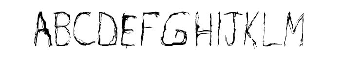 Burton Scratch Regular Font UPPERCASE