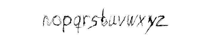 Burton Scratch Regular Font LOWERCASE