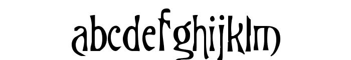 Burtons Nightmare Font LOWERCASE