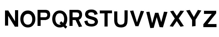 Burvetica Thick NC Font UPPERCASE