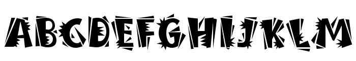 BurweedICG Thorny Font UPPERCASE