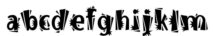BurweedICG Thorny Font LOWERCASE