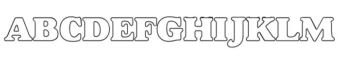 Bush Font UPPERCASE