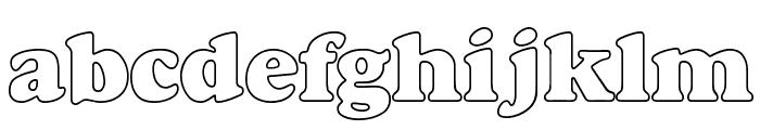 Bush Font LOWERCASE