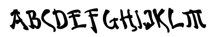 Bushido Bold Leftalic Font LOWERCASE